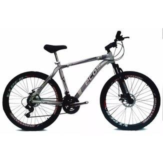 Bicicleta MTB ECOS Aro 26 21Vel Rapid Fire Shimano Freio Disco Câmbios  Shimano c99afbc5efa