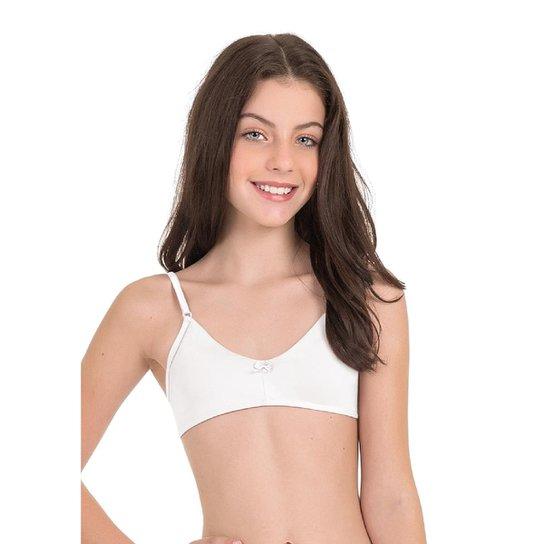 a5db09ade Sutiã Teen Em Microfibra Com Proteção Permanente Feminina - Branco ...