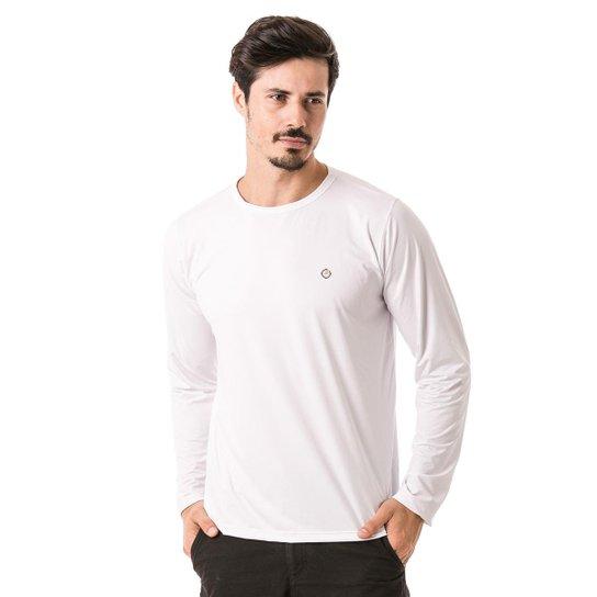 Camiseta Térmica para Frio Manga Longa com Proteção Solar Extreme UV -  Branco 0b52a148cebd7