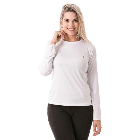 33a1f00bd4 Camiseta com Proteção Solar Manga Longa Extreme UV Ice - Branco ...
