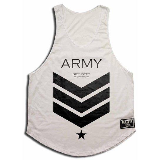 Camiseta Regata Cavada Army - Branco - Compre Agora  d5c7954a1ba