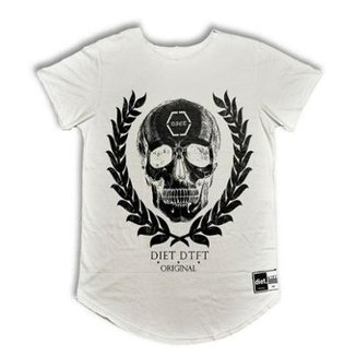 a381d6211f Camiseta Masculina Longline - Oversized Skull Arch Bco