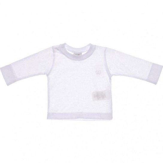f86043a98 Camiseta Manga longa Infantil Zig Mundi Masculino - Branco - Compre ...