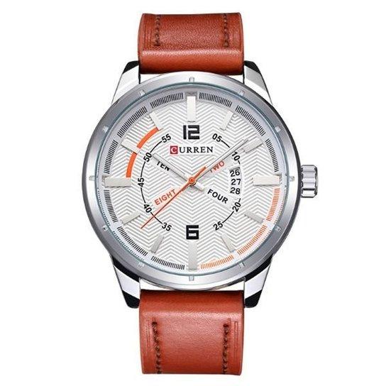 4d20c5cb71b Relógio Curren Analógico - Branco - Compre Agora