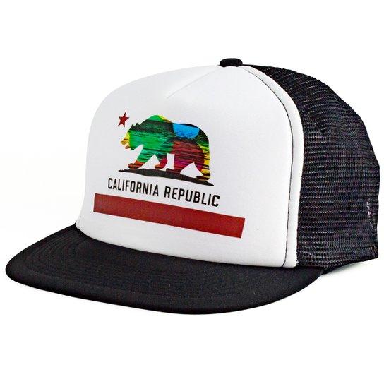 Boné Blanks Co Snap Back California Aba Reta - Branco - Compre Agora ... 3a6aae53a01