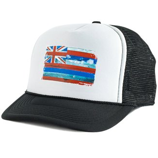 071f82a00bd4c Boné Blanks Co Snap Back Bandeira Hawaii Aba Curva