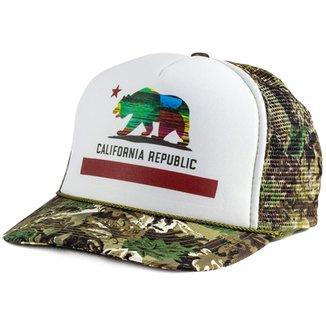 Boné Blanks Co Snap Back California Camuflado Aba Curva 27410d87e75c7