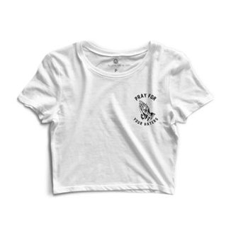 bfa21239a1f9a Cropped Morena Deluxe Pray For Your Haters Feminino