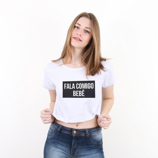 0be890b6d24 Blusa Cropped Morena Deluxe Fala Comigo Bebê Feminina - Compre Agora ...