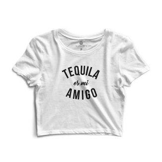 Blusa Cropped Morena Deluxe Tequila es mi Amigo Feminino 42184a7e6b33b