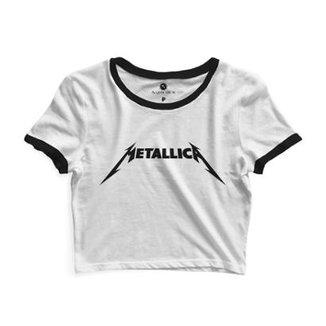 ea0f2df0ef Cropped Com Viés Morena Deluxe Metallica Feminino