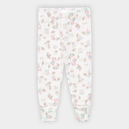 Calça Infantil Up Baby Estampa Floral Feminina