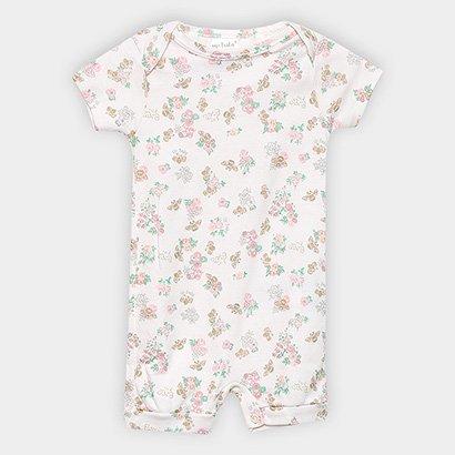 Macaquinho Infantil Up Baby Suedine Estampado Feminino
