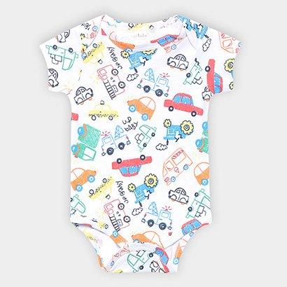 Body Infantil Up Baby Motos Manga Curta