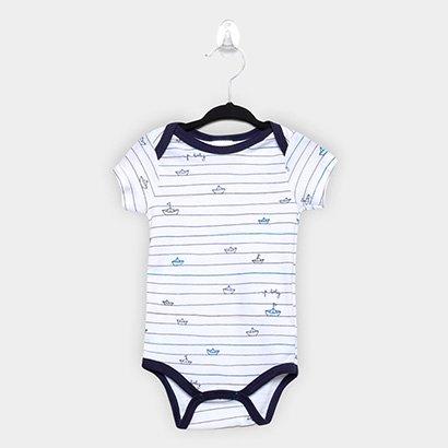 Body Infantil Up Baby Baleia Masculino