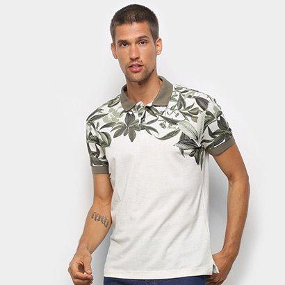 Camisa Polo Triton Estampada Manga Curta Masculina