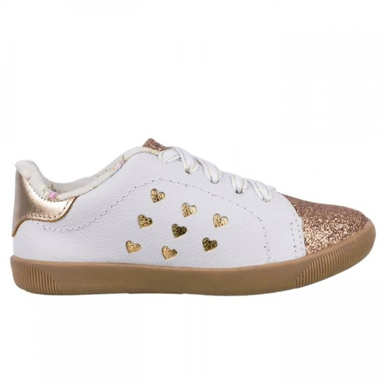 6def5b995c390 Tênis Infantil Feminino Ortopé Fashion - Branco   Netshoes