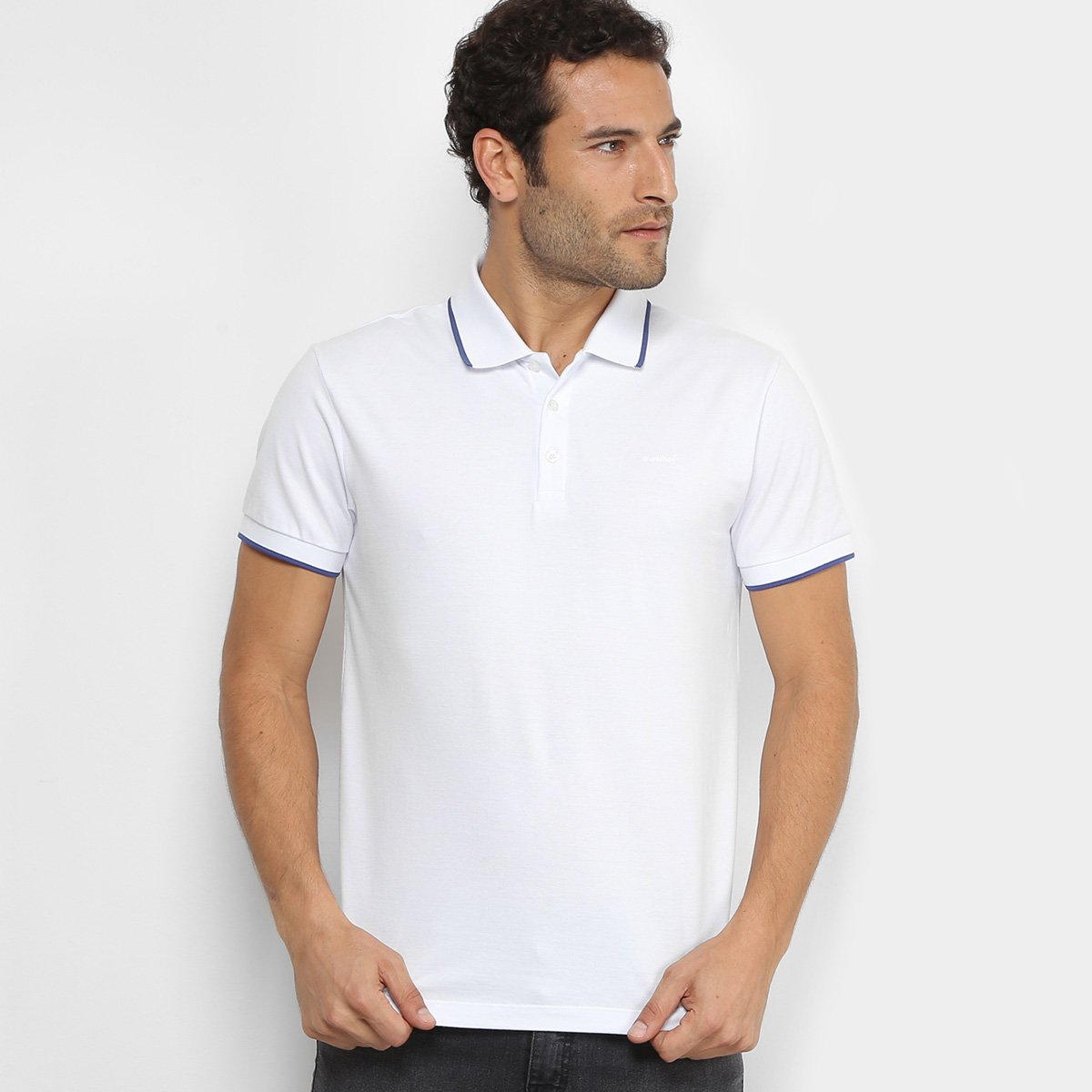 4123a8010 Camisa Polo Colcci Piquet Friso Contraste Masculina. undefined
