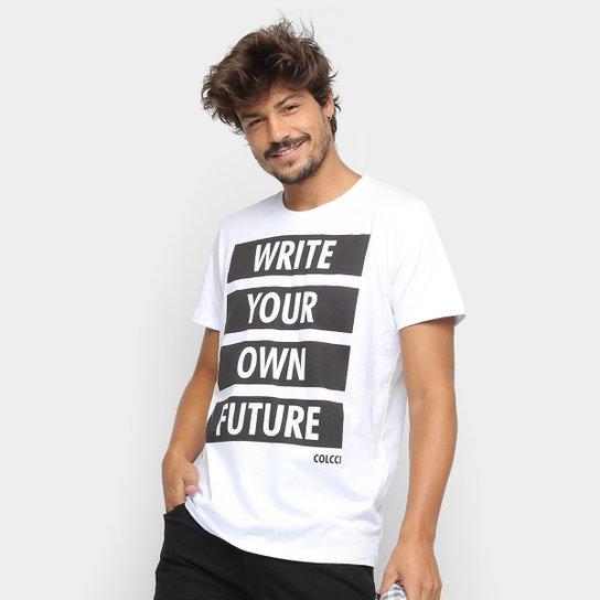 22303da5a Camiseta Colcci Future Masculina - Branco