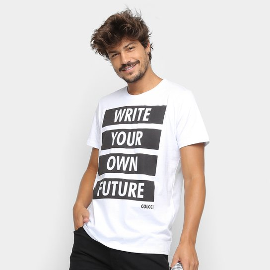 8b8338bc3 Camiseta Colcci Future Masculina - Branco | Netshoes