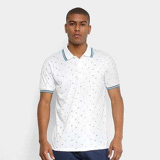 c1beeb7700 Camisa Polo Broken Rules Mini Print Geométrico Masculina
