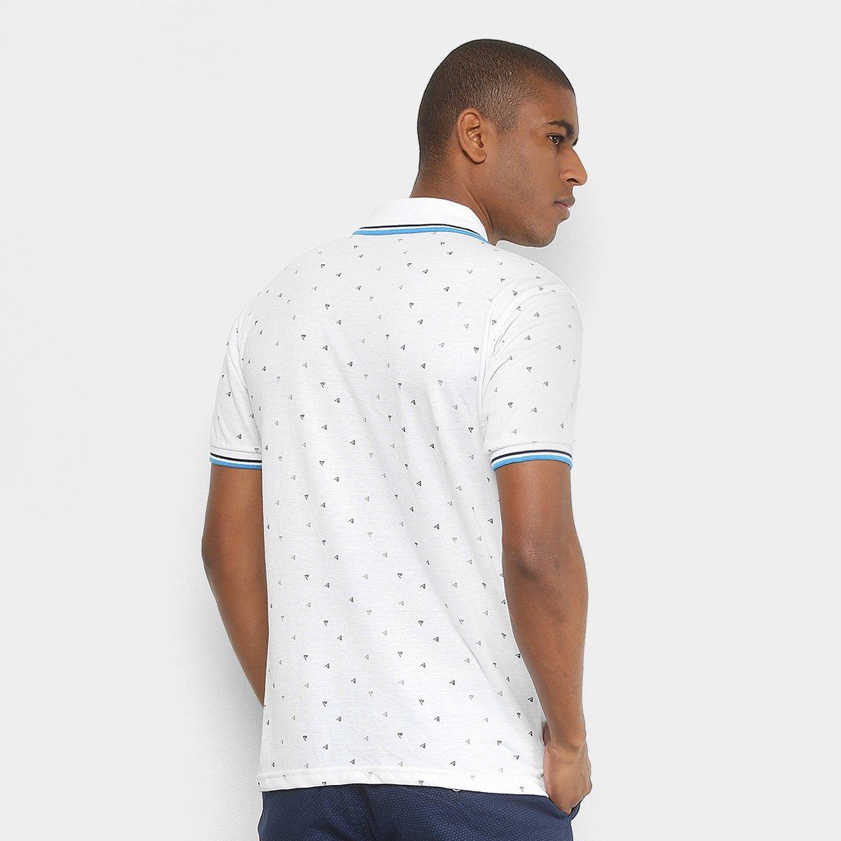 8d2e07ad54 Camisa Polo Broken Rules Mini Print Geométrico Masculina