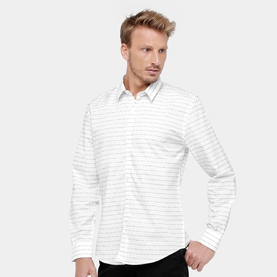 4ddfc5e93 Camisa Social Ellus All We Have is Now Masculino - Branco | Netshoes