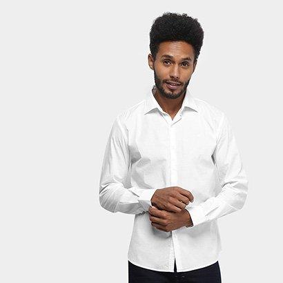 Camisa Manga Longa Ellus Tricoline Slim Masculina
