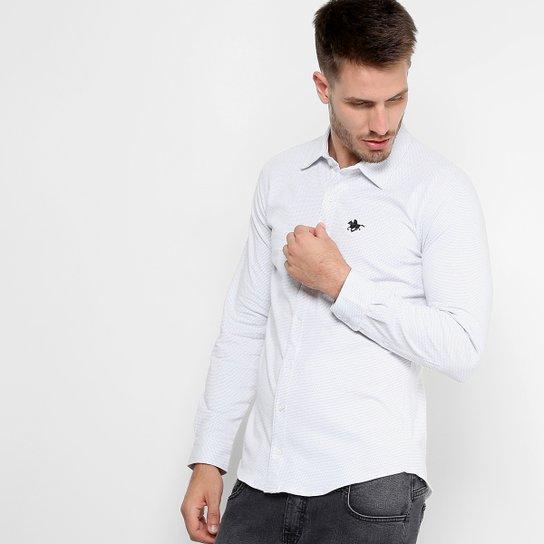 62a84e9490 Camisa Manga longa RG 518 Ponto Bordado Masculina - Branco | Netshoes
