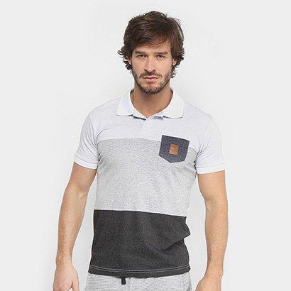 Camisa Polo RG 518 Malha Pontilhada com Bolso Masculina