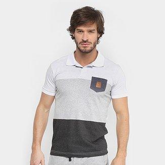 Camisa Polo RG 518 Malha Pontilhada com Bolso Masculina 4ab1b1029221f
