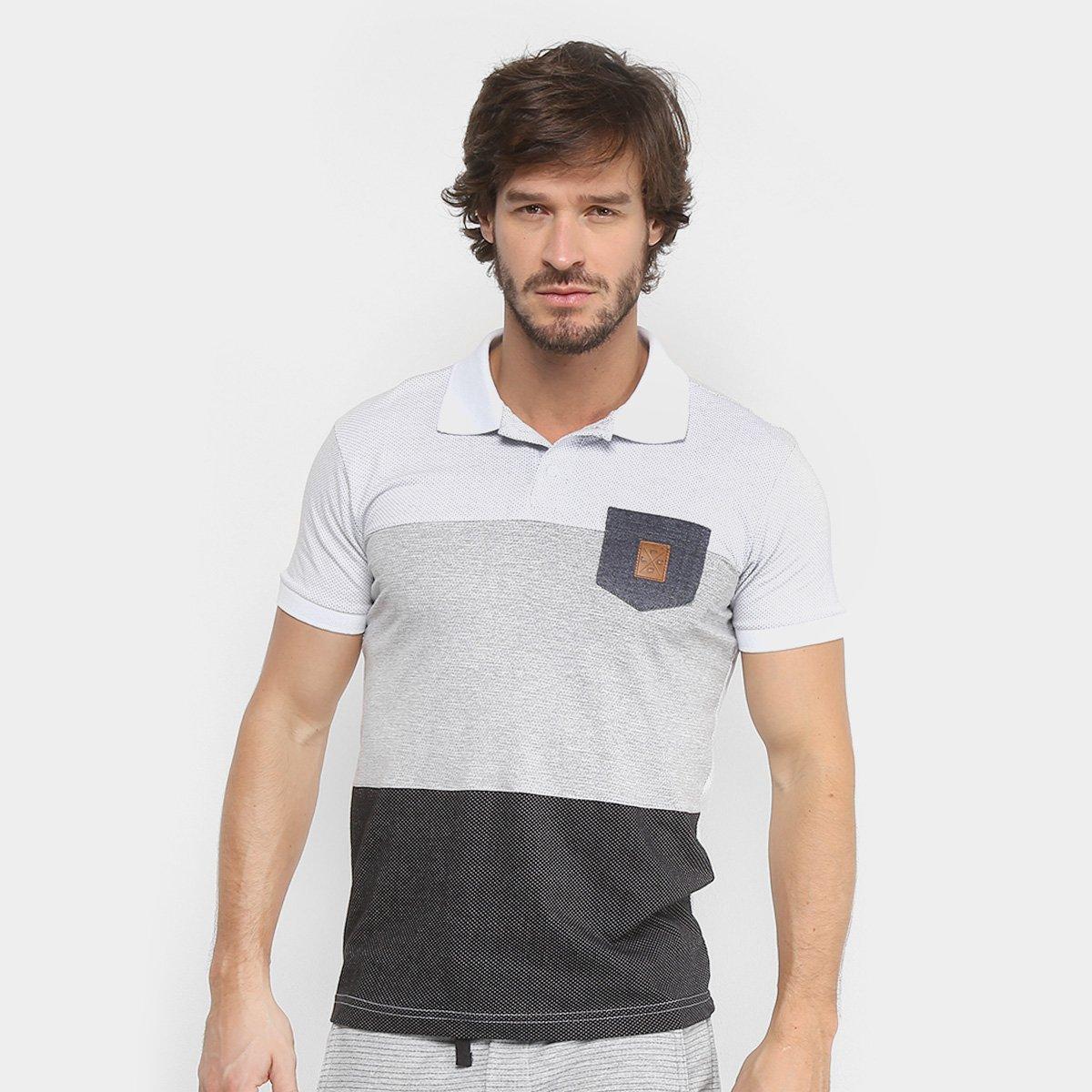 Foto 1 - Camisa Polo RG 518 Malha Pontilhada com Bolso Masculina