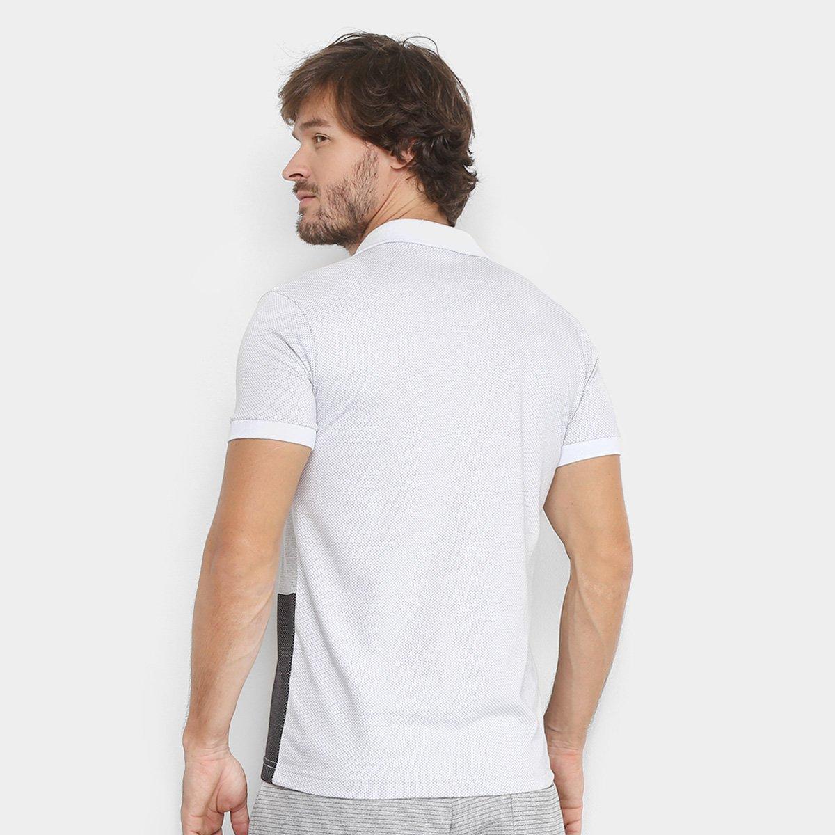 Foto 2 - Camisa Polo RG 518 Malha Pontilhada com Bolso Masculina