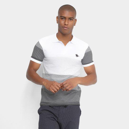 1a083d4614 Camisa Polo RG 518 Listrada Degrade Masculina - Branco - Compre ...