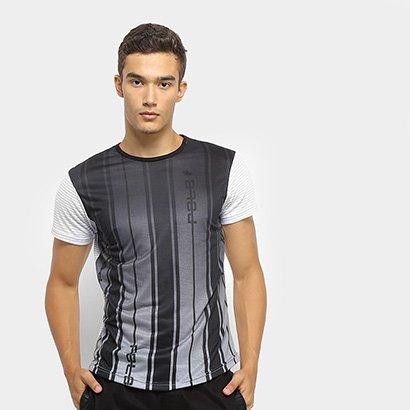Camiseta Polo RG 518 Swag Malha Listrada Masculina