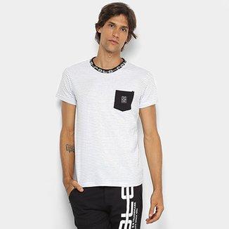 28f6892ad Camiseta RG 518 Malha Bolso Listrada Masculina