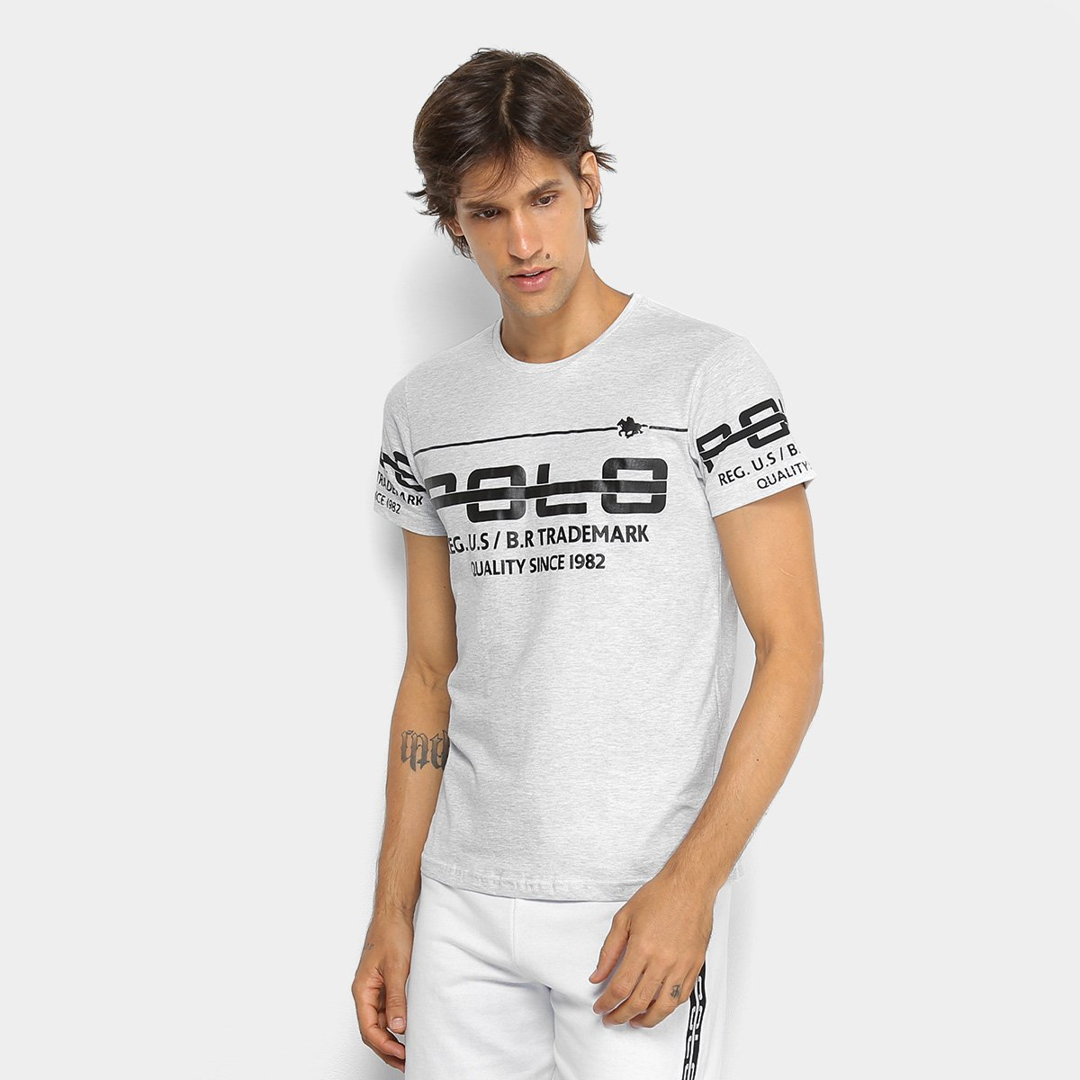 Foto 1 - Camiseta RG 518 Meia Malha Estampada Masculina