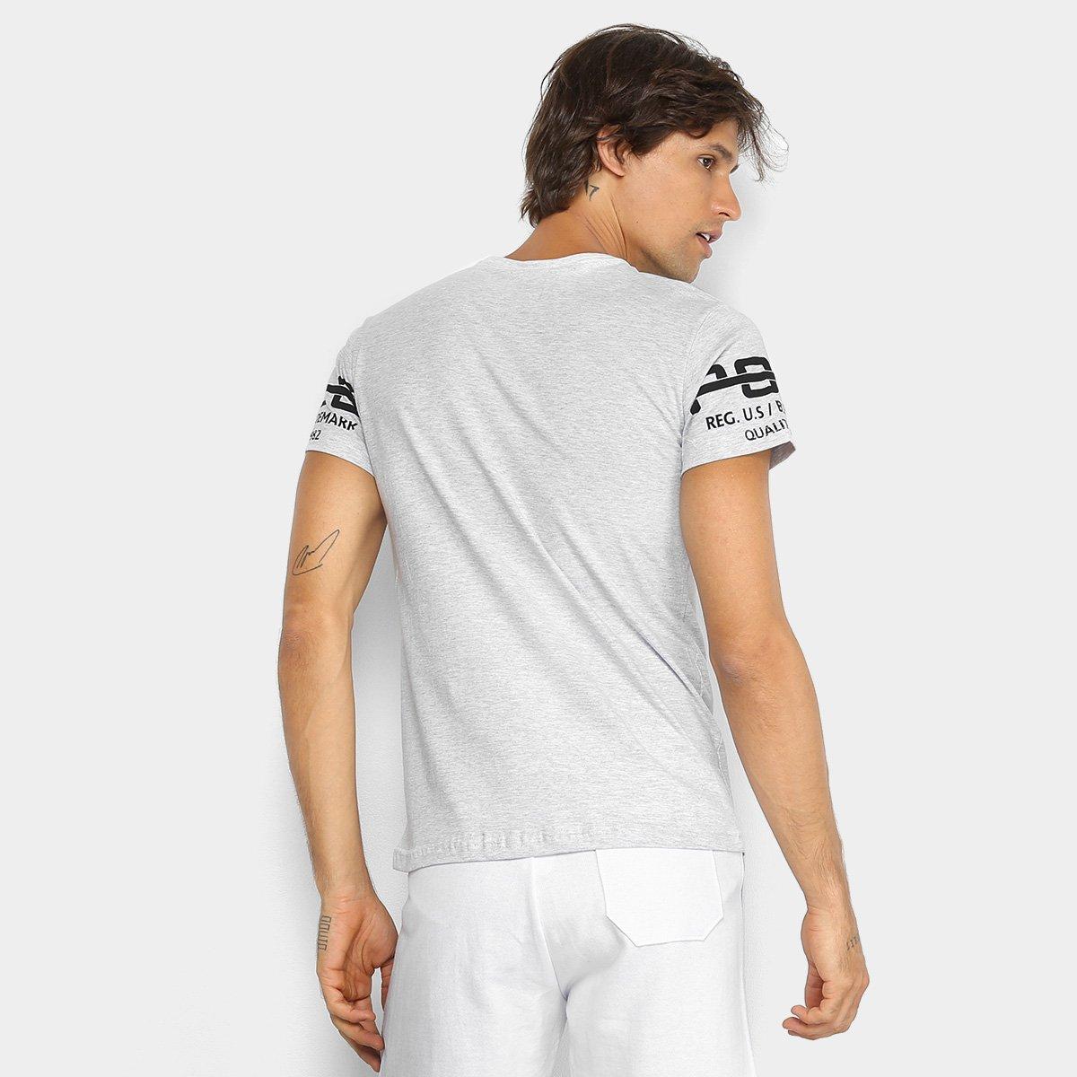 Foto 2 - Camiseta RG 518 Meia Malha Estampada Masculina