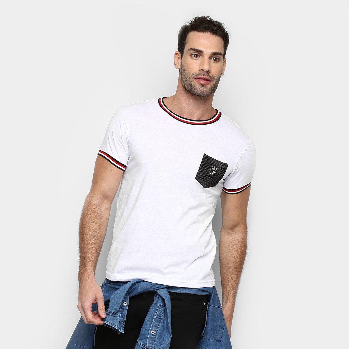 Camiseta RG 518 Gola Listrada Masculina 8d1156c901f62