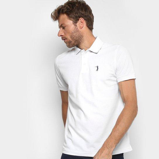 936eeff6b5 Camisa Polo em Piquet Aleatory Manga Curta Masculina - Branco ...