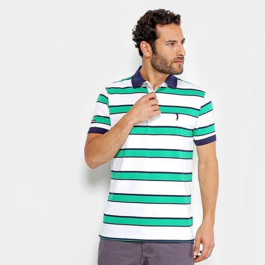 Camisa Polo Aleatory Masculina - Branco e Verde - Compre Agora ... 381e891987a64