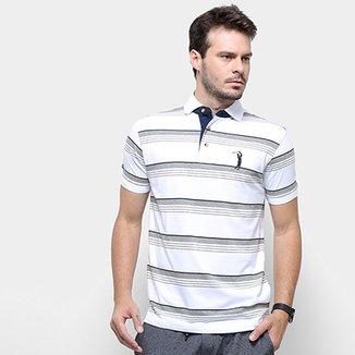 7653503271b Camisa Polo Aleatory Listrada Fio Tinto Masculina