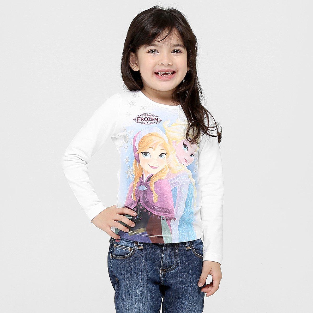 Camiseta Brandili Frozen Infantil