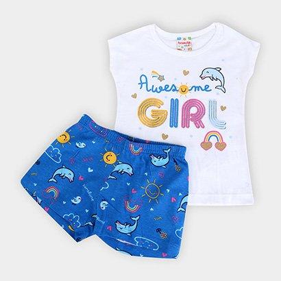 Conjunto Infantil Brandili Golfinhos Feminino