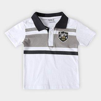 cbc97bcf9c Camisa Polo Infantil Fakini Kids Logo Bordado Masculino
