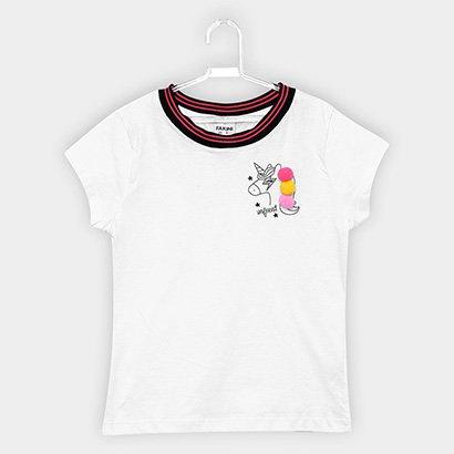 Blusa Fakini Infantil Unicórnio Pompom Feminina