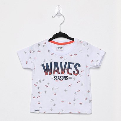 Camiseta Infantil Fakini Surf Masculina