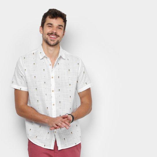 Camisa Foxton Estampada Abacaxi Manga Curta Masculina - Compre Agora ... 92abb4cd212ba