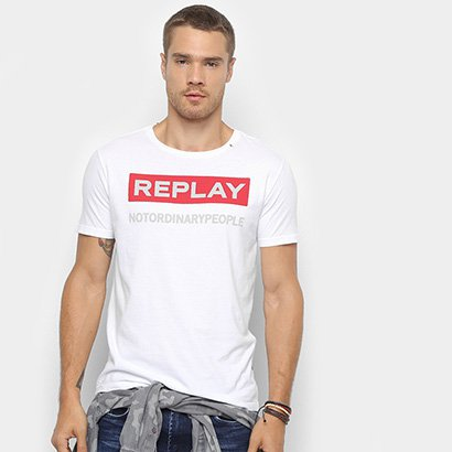 Camiseta Replay Not Ordinary People Masculina