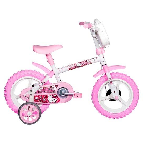 81f8a497f Bicicleta Infantil Styll Baby Hello Kitty - Aro 12 com Rodinhas - Branco